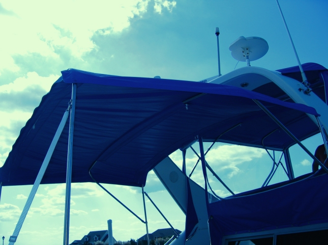 Watkins Custom Sewing Outer Banks Bimini Boat Top Enclosures 10
