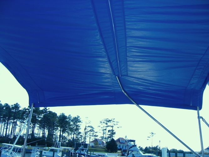 Watkins Custom Sewing Outer Banks Bimini Boat Top Enclosures 12