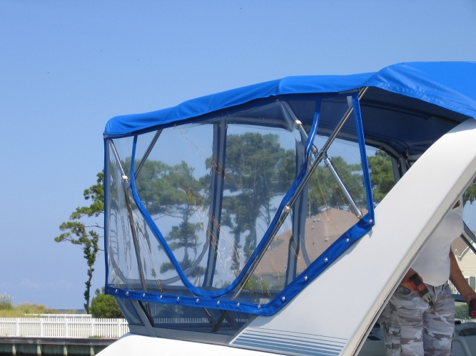 Watkins Custom Sewing Outer Banks Bimini Boat Top Enclosures 2