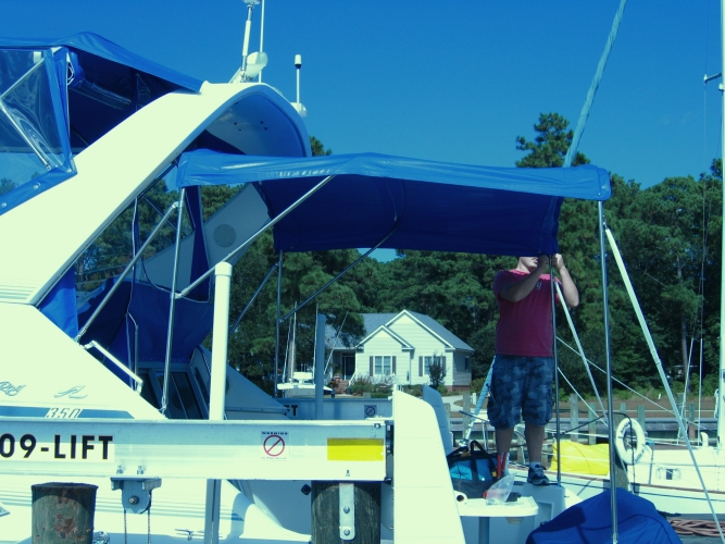 Watkins Custom Sewing Outer Banks Bimini Boat Top Enclosures 9
