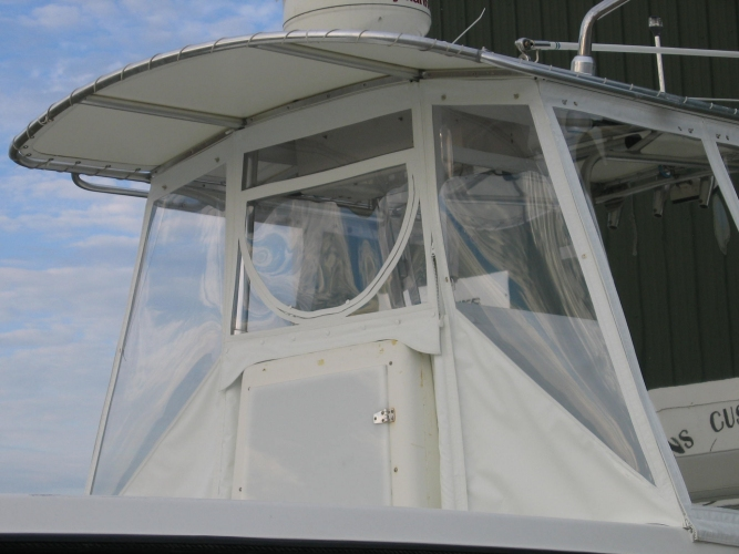 Watkins Custom Sewing Outer Banks Boat Center Console Enclosure Windows Curtains 3