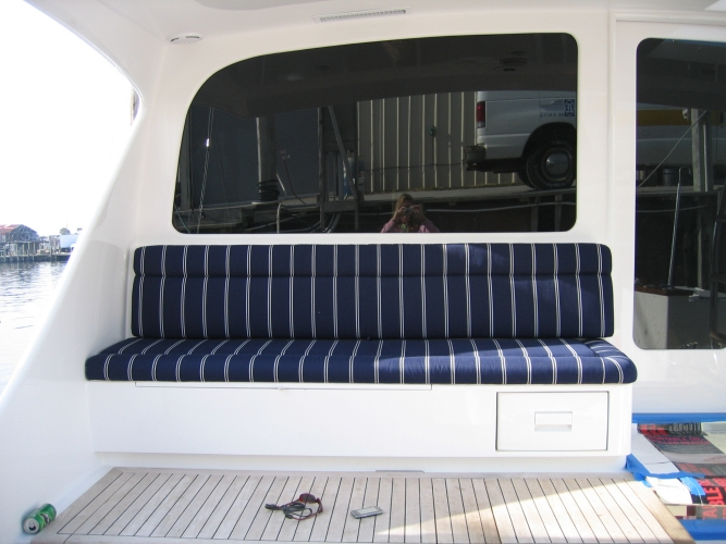 Watkins Custom Sewing Outer Banks NC marine boat yacht exterior cushions seating padding fighting chairs 10
