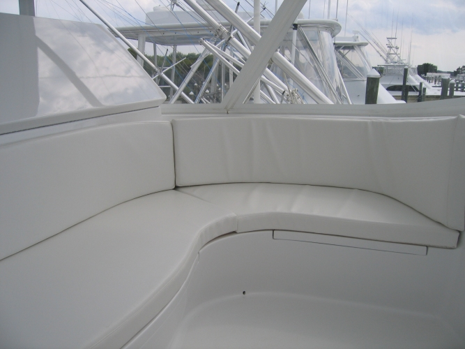 Watkins Custom Sewing Outer Banks NC marine boat yacht exterior cushions seating padding fighting chairs 12