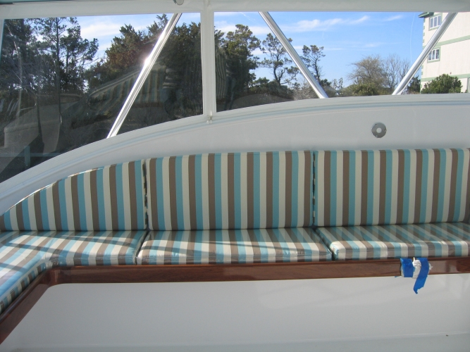 Watkins Custom Sewing Outer Banks NC marine boat yacht exterior cushions seating padding fighting chairs 15