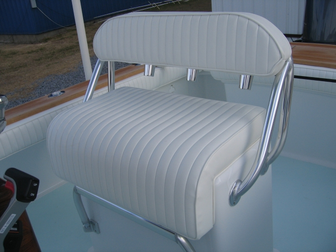Watkins Custom Sewing Outer Banks NC marine boat yacht exterior cushions seating padding fighting chairs 1