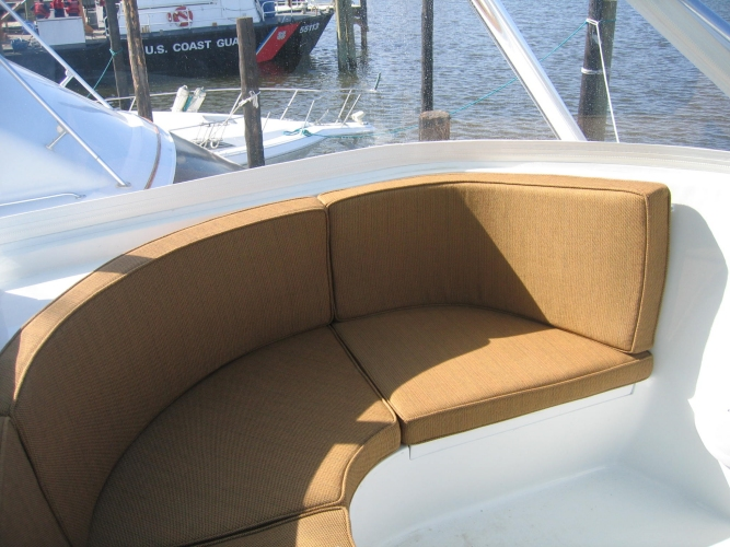 Watkins Custom Sewing Outer Banks NC marine boat yacht exterior cushions seating padding fighting chairs 22