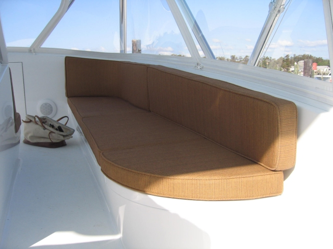 Watkins Custom Sewing Outer Banks NC marine boat yacht exterior cushions seating padding fighting chairs 24