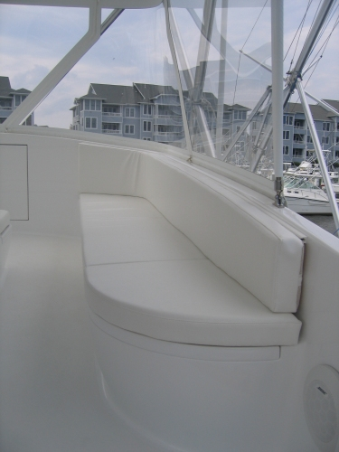 Watkins Custom Sewing Outer Banks NC marine boat yacht exterior cushions seating padding fighting chairs 25