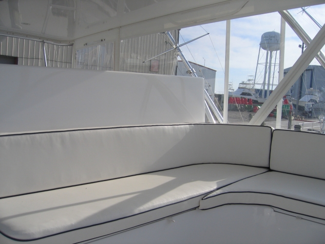 Watkins Custom Sewing Outer Banks NC marine boat yacht exterior cushions seating padding fighting chairs 4