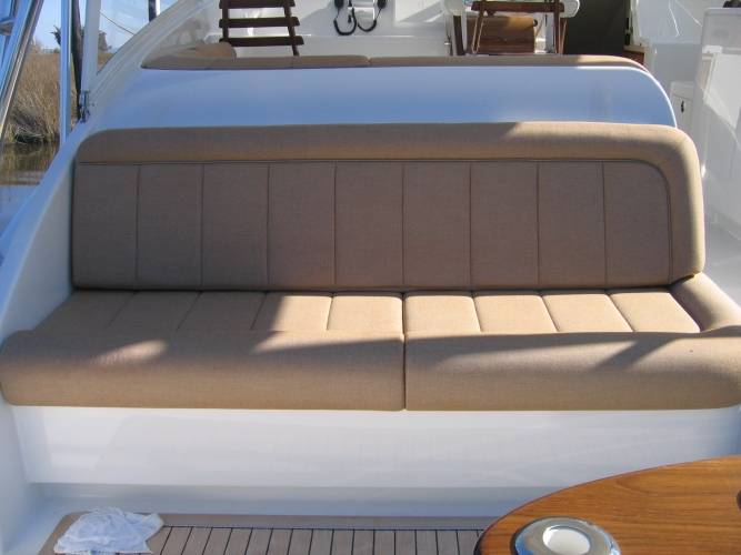 Watkins Custom Sewing Outer Banks NC marine boat yacht exterior cushions seating padding fighting chairs 5