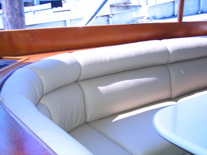 Watkins Custom Sewing Outer Banks NC marine boat yacht exterior cushions seating padding fighting chairs 9